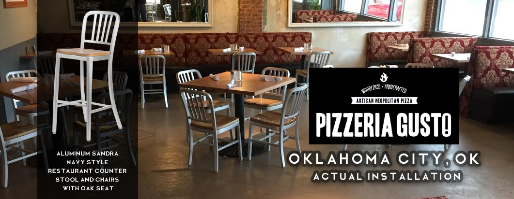 seating arrangement in Pizzeria Gusto in Oklahoma, OK
