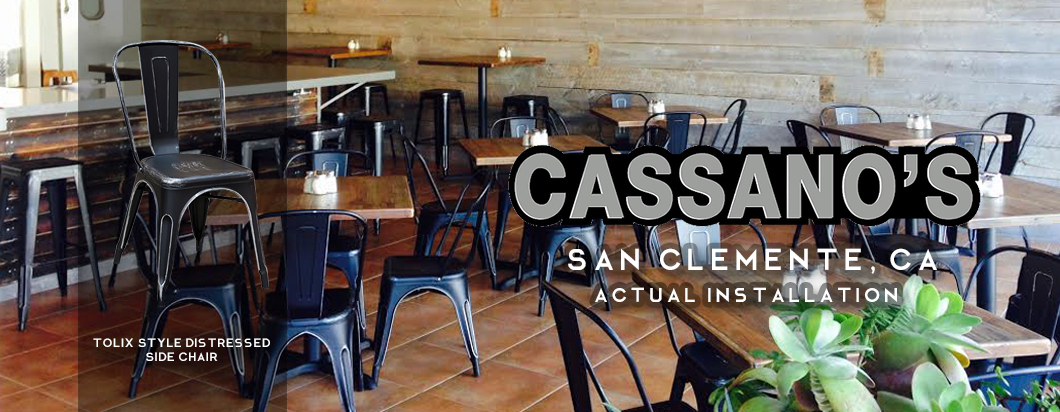 seating arrangement in cassano's in San Clemente, CA