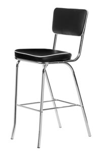 Retro Bar Stool Black