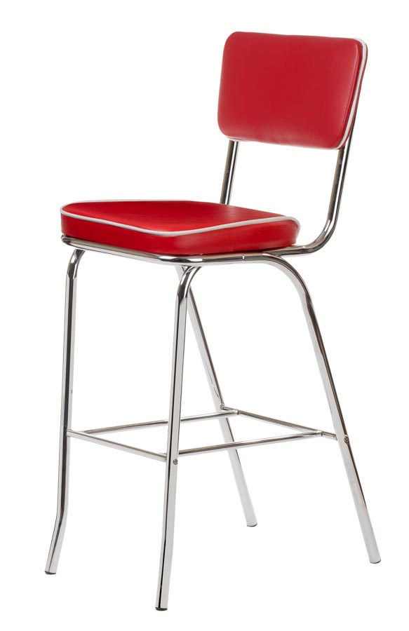Outstanding Retro Bar Stool Red Metal Seating Chairs Direct Seating Onthecornerstone Fun Painted Chair Ideas Images Onthecornerstoneorg