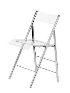 Lucite Folding Chair