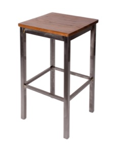 Trent Steel Barstool with Wood Seat