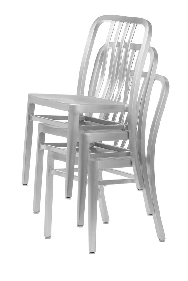 Wonderful Aluminum Sandra Navy Style Restaurant Chair Stackable. Zoom