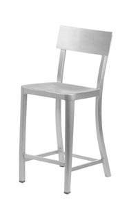 Melanie Brushed Aluminum Bar Stool