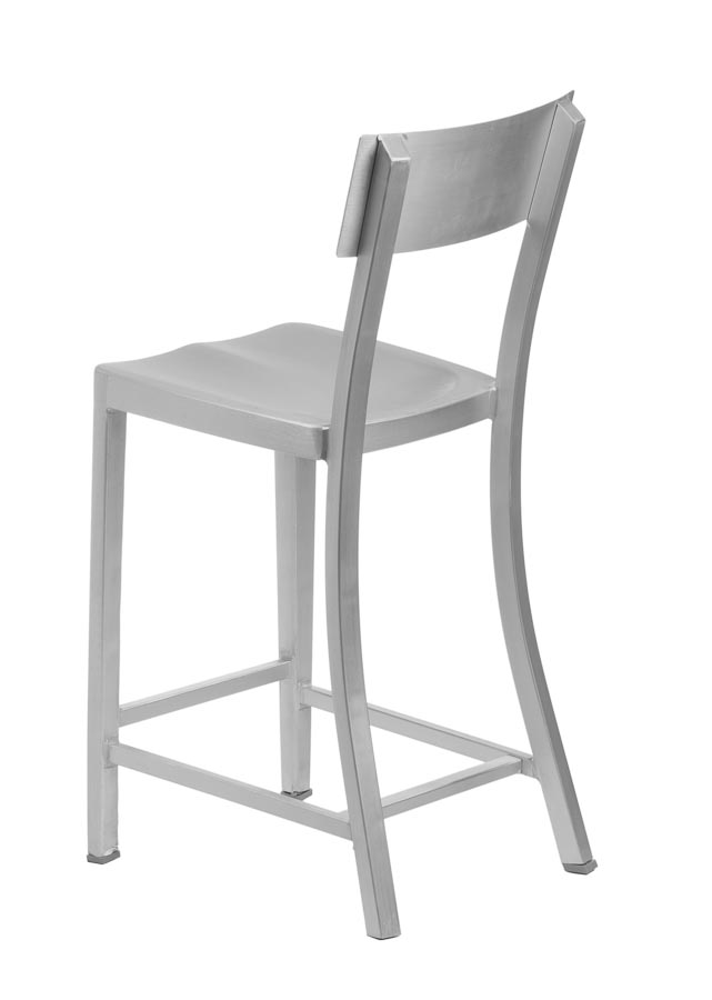 melanie brushed aluminum bar stool aluminum bar stools chairs direct seating