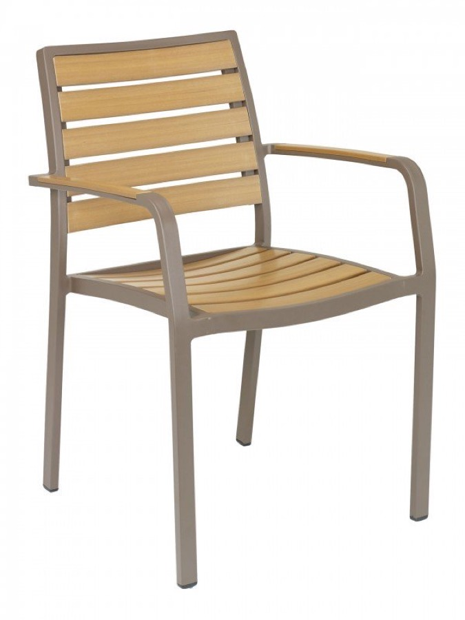 Sahara Outdoor Aluminum Arm Chair Stackable Chairs Chairs Direct Seating