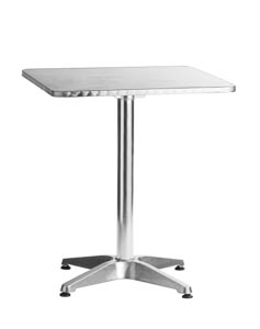 "Aluminum 24"" Square  Table"