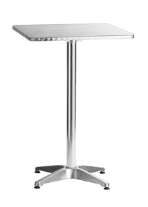 "Aluminum 24""x24"" Square Bar Table 42"" Height"