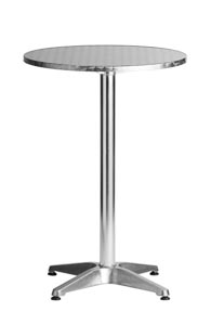 "Aluminum 24"" Round Restaurant Bar Table"