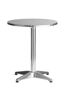 "Aluminum 24"" Round Restaurant Table"