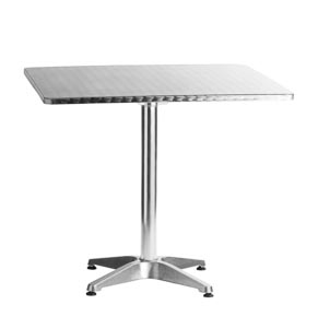 "Aluminum 27.5"" x 27.5"" Square Restaurant Table"
