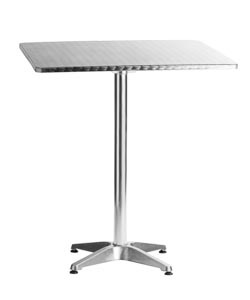 "Aluminum 27.5""x27.5"" Square Restaurant Table Bar Height"