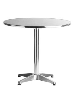 "Aluminum 27.5"" Round Restaurant Table"