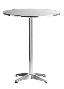 "Aluminum 27.5"" Round Restaurant Table Bar Height"
