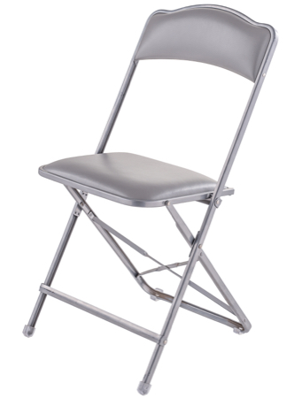 Exceptionnel Fritz Style Folding Chair With Silver Frame 19