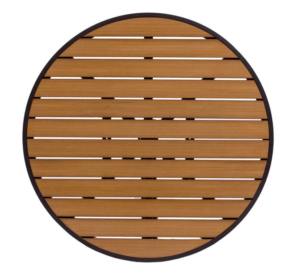 Longport Aluminum And Synthetic Teak Round Table Top