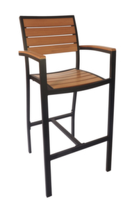 Largo Outdoor Aluminum Barstool with Arms