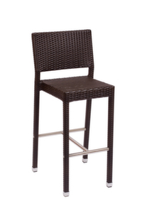 Monterey, Aluminum and Synthetic Wicker, Outdoor Barstool