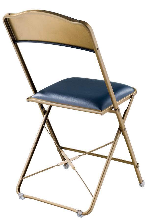 Fritz Style Folding Chair with Gold Frame, Folding chairs : Chairs ...