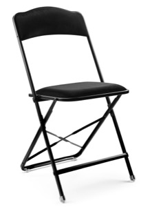 Fritz Style Folding Chair with Black Frame
