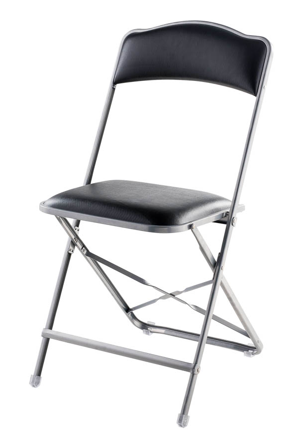 Fritz Style Folding Folding Chair With Silver Frame