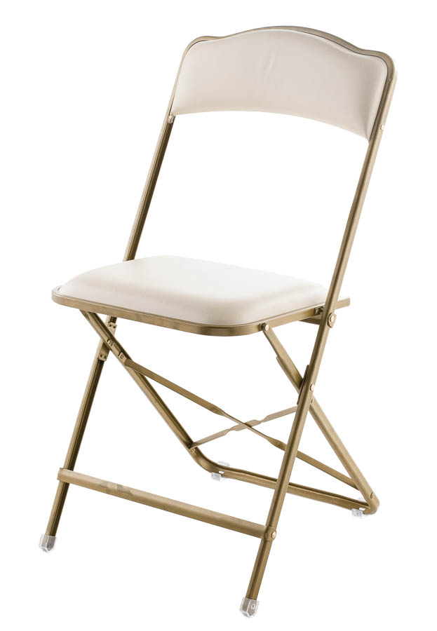 Marvelous Fritz Style Folding Chair With Gold Frame. Zoom