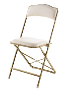 Fritz Style Folding Chair with Gold Frame