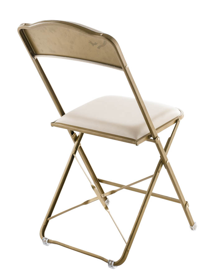 Fritz Style Folding Chair With Gold Frame Folding Chiavari Chairs Direct