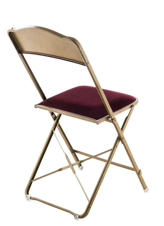Captivating Fritz Style Folding Chair With Gold Frame, Folding Chairs : Chairs Direct  Seating