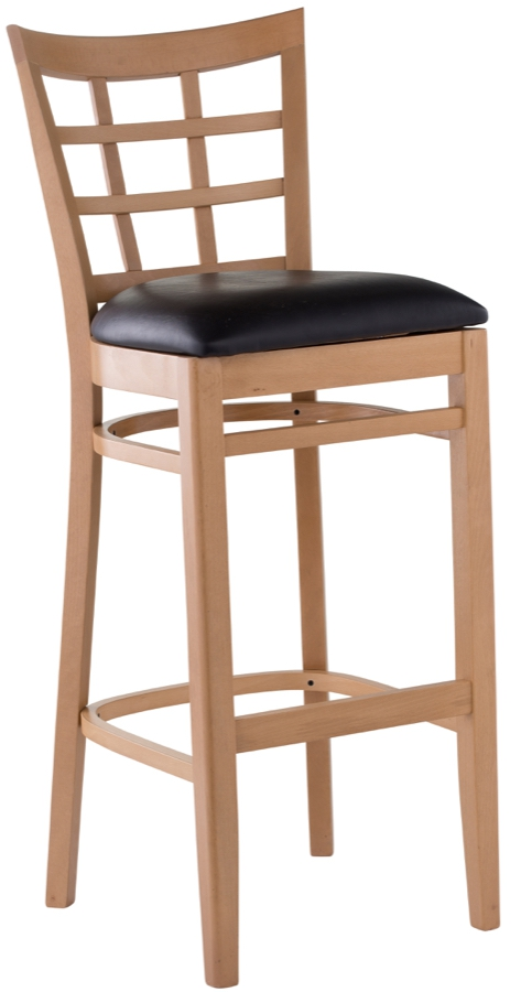 wood lattice back upholstered restaurant bar stool barstools chairs