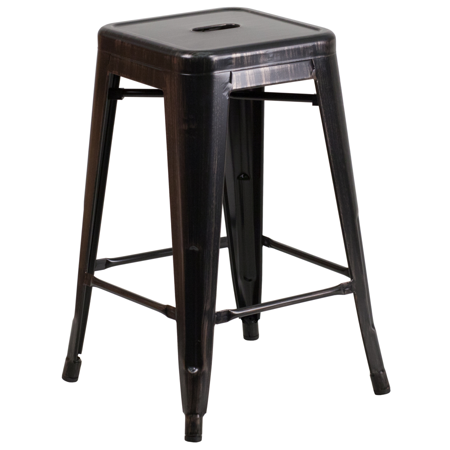 Tolix Backless Counter Stool Colored Tolix Collection