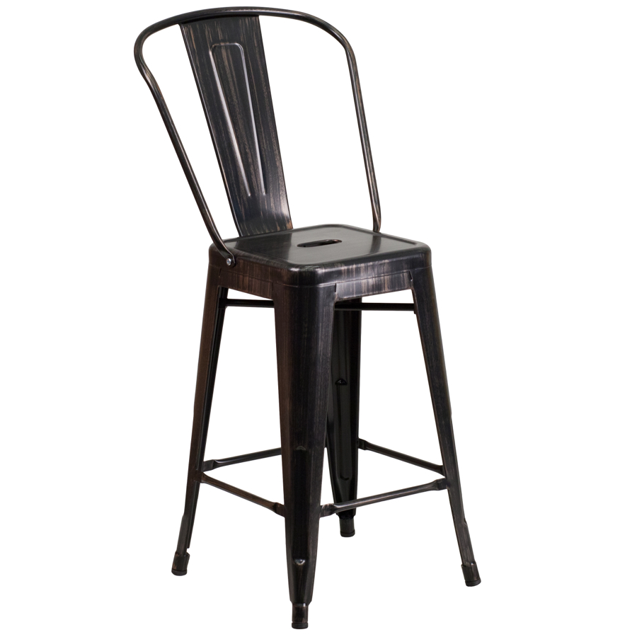 Tolix Replica-Tabouret Industrial Style Counter Stool with back-24  high Tabouret Collection  Chairs Direct Seating  sc 1 st  Chairs Direct Seating & Tolix Replica-Tabouret Industrial Style Counter Stool with back-24 ... islam-shia.org