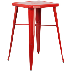 "24"" Square Top Tolix Cafe Bar Table"