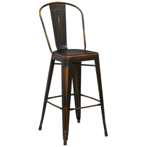 Tolix Distressed Indoor-Outdoor Barstool