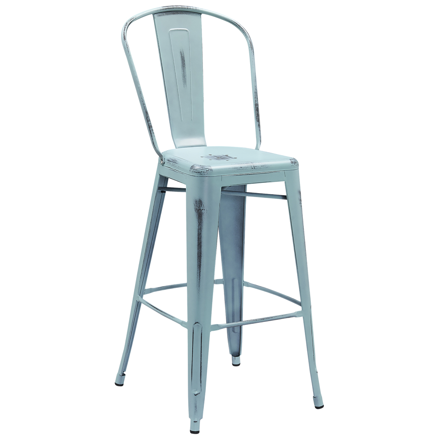 Tolix Distressed Indoor Outdoor Barstool Colored Tolix