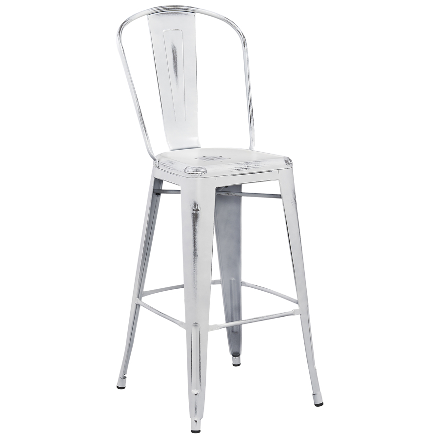 Tolix Style Distressed Indoor-Outdoor Bar Stool with Back- 30  High Tabouret Collection  Chairs Direct Seating  sc 1 st  Chairs Direct Seating & Tolix Style Distressed Indoor-Outdoor Bar Stool with Back- 30 ... islam-shia.org