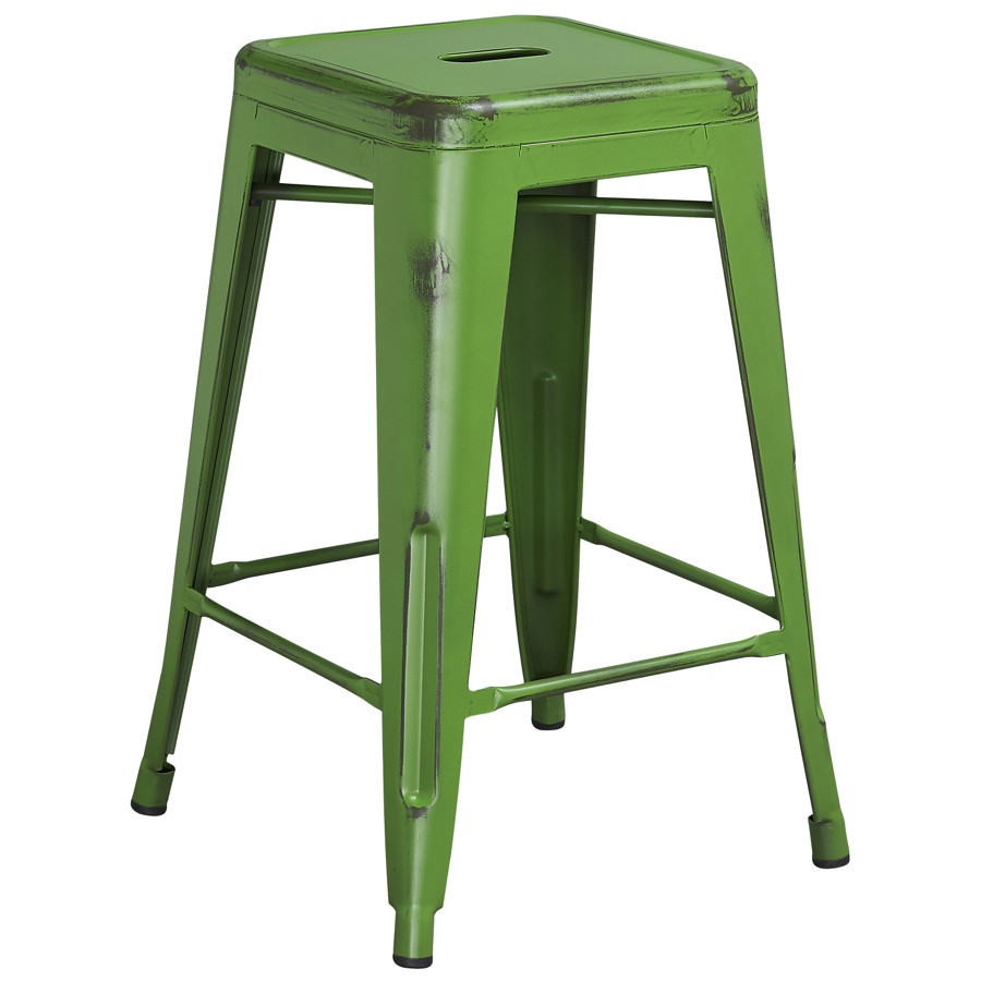Tolix distressed indoor outdoor backless counter stool colored tolix collection chairs direct - Tolix counter stools ...