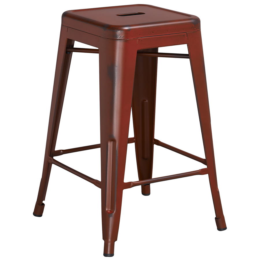 Tolix distressed indoor outdoor backless counter stool for 24 inch bar stools