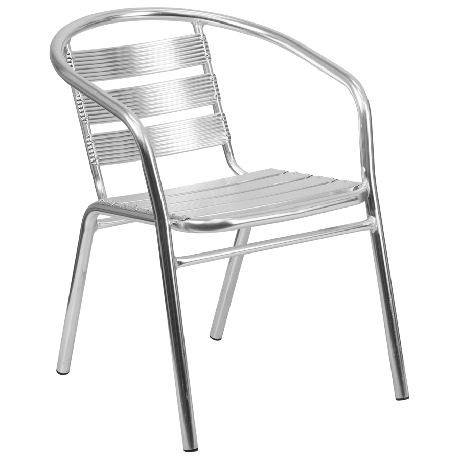 Heavy Duty Aluminum Outdoor Restaurant Arm Chair Stackable Aluminum Chairs Chairs Direct Seating