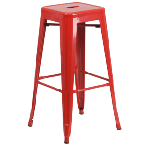 "Tolix Replica-Tabouret Industrial Style Bar Stool-Stackable-Backless-30"" high"