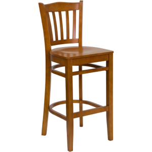 Classico Wood Barstool with Wood Seat