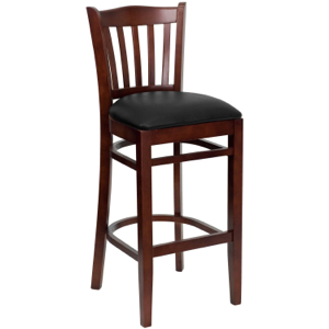 Classico Wood Barstool with Upholstered Seat.