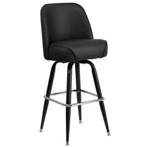 Swivel Upholstered Bucket Bar Stool