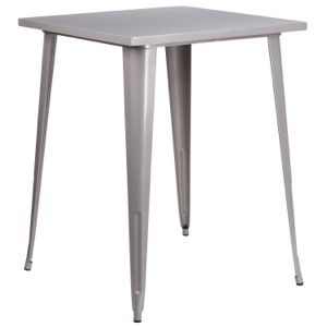 Square Tolix Bar Height Cafe Table-31.5""