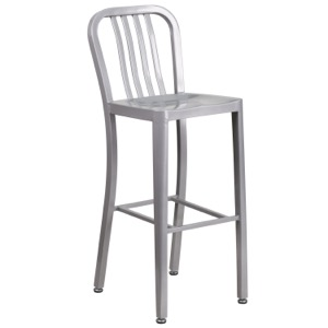 Navy Style Metal Indoor-Outdoor Bar Stool