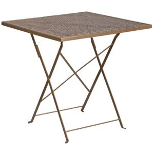 Square Steel Folding Patio Table