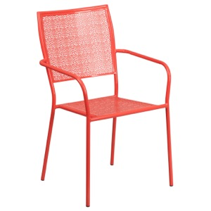 Steel Square Back Arm Chair