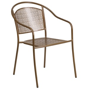 Steel Round Back Arm Chair