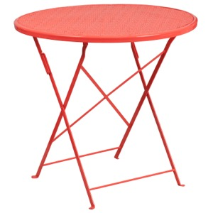 Round Steel Folding Patio Table