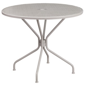 "35.25"" Round  Steel Patio Table"